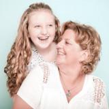 Moeder en dochter fotoshoot