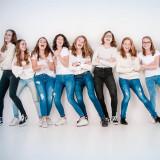 Fotoshoot vriendinnen groep in fotostudio