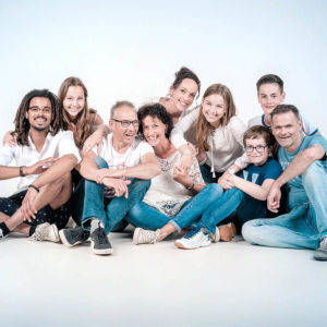 Spontane familie foto