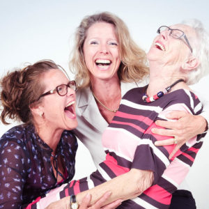 Fotoshoot oma met dochters