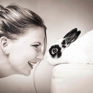 Fotoshoot met konijn