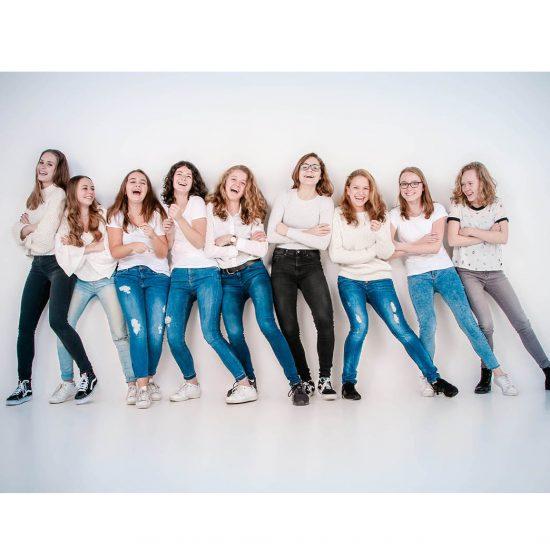 Fotoshoot met vriendinnengroep