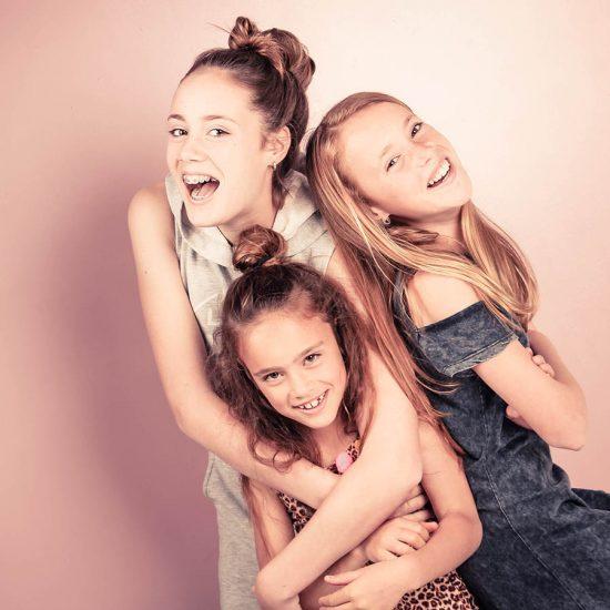 Drie vriendinnen fotoshoot