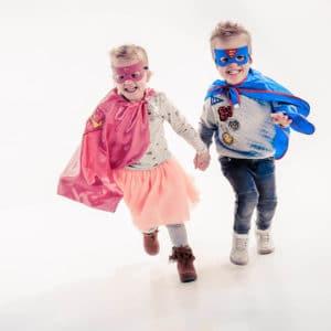 Superhelden fotoshoot