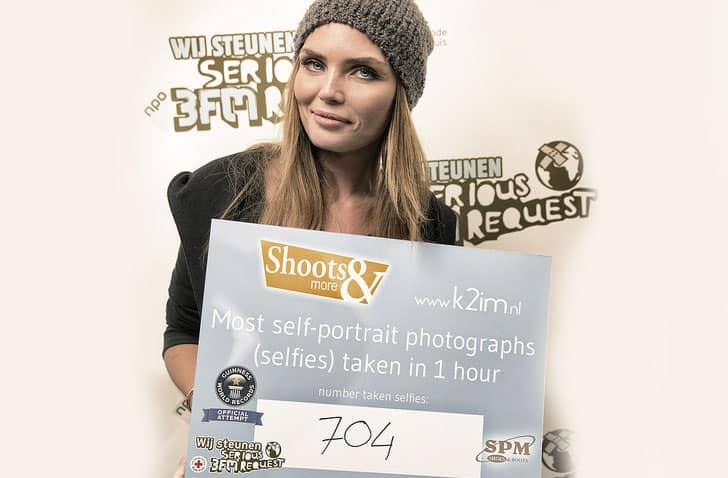 Selfies voor 3FM Serious Request met Kim Feenstra