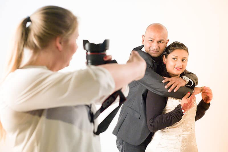 fotografe zet stel op de foto