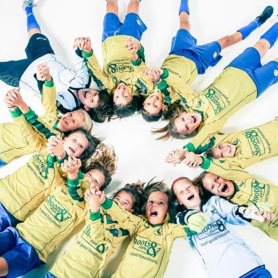fotoshoot voetbal team