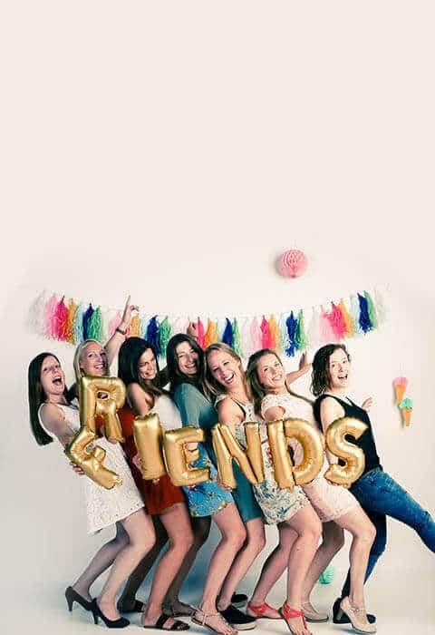 Party fotoshoot met vriendinnen