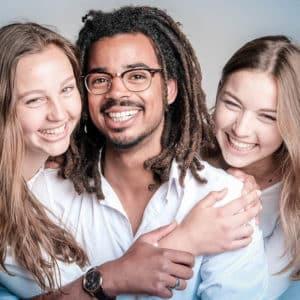 portret gezin foto