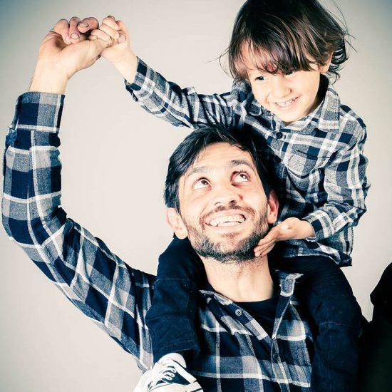 Portretfoto vader en zoon