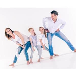 Gezellige familie fotoshoot gezin