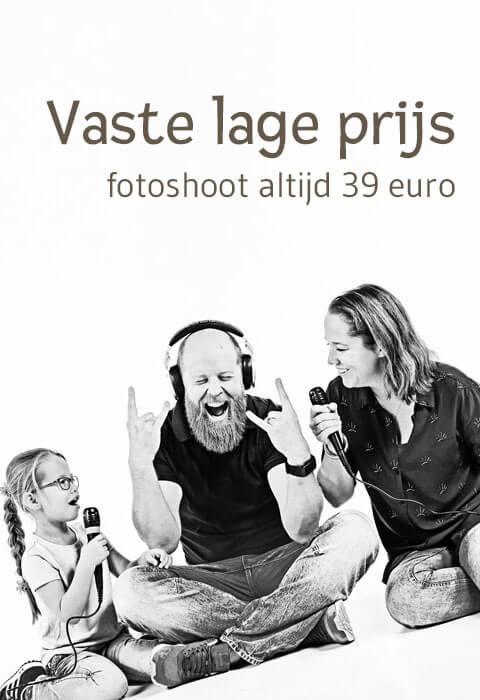 Fotoshoot vaste lage prijs 39 euro