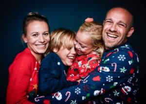 Kersttruien fotoshoot