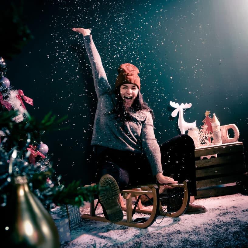 Sneeuw fotoshoot